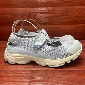 LL Bean blue outdoor knit water shoes 10M
